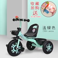 三轮车1儿童3脚踏车4简易带斗2骑车5周岁小巧轻便6大号小童自行车 绿色 顶配钛空轮+快装