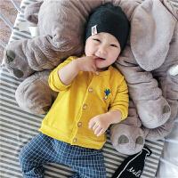 婴儿上衣宝宝春秋外套新生儿长袖开衫0-3-6-9-12个月外出服春