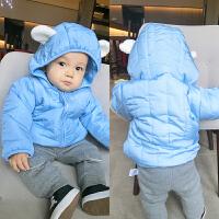 女婴儿衣服秋装1岁3个月男宝宝冬季加厚保暖外套新生儿棉衣