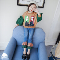 女童衣服秋装套装时尚韩版中大童潮衣儿童洋气春秋两件套
