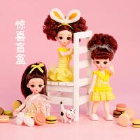 仙仙芭比洋娃娃盲盒美发小女孩公主玩偶迷你古装衣服仿真