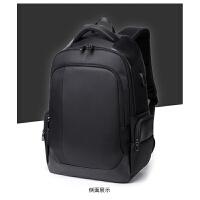 男士背包双肩包男商务包包中学生书包多功能电脑包百搭旅行包防水 黑色 1283