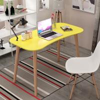 北欧电脑桌简约现代台式写字台简易学习桌书桌家用卧室实木小桌子