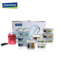 三光云彩glasslock韩国进口玻璃保鲜盒/饭盒礼品套装十二件套/GL80便当盒