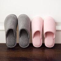 天鹅绒家居室内棉拖鞋 室内木地板PVC底防滑拖鞋 新款日式居家棉拖鞋女