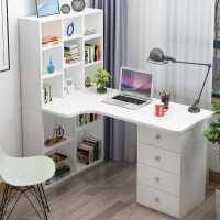 【满减优惠】转角电脑书桌书柜书架组合多抽屉拐角台式家用一体儿童学习写字台