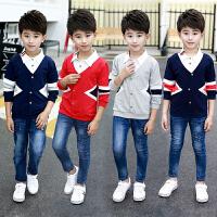 童装男童秋装套装春秋季中大儿童上衣假两件套韩版潮衣