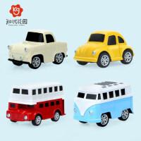 儿童知识花园合金车玩具车回力工程车套装惯性迷你小汽车男孩玩具