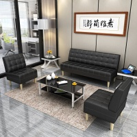 办公沙发简约现代会客简易休闲小型三人位北欧办公室沙发茶几组合