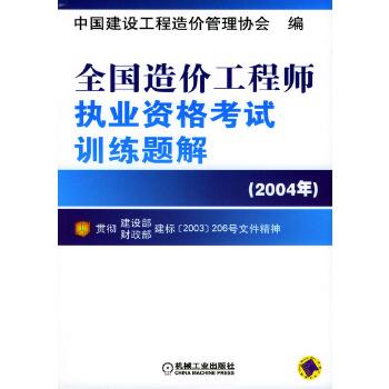 全国造价工程师执业资格考试训练题解:2004年