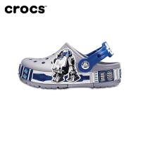 【秒��r 5.9大牌日Crocs卡��Y童鞋2018夏新款小克�格酷�W��和�涉水洞洞鞋|205008 趣味�W院卡�班R2D