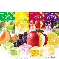 日本进口零食kabaya卡巴也桃子/葡萄味果汁夹心软糖水果糖45g