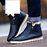 休闲鞋男鞋棉鞋男士雪地靴加绒毛保暖鞋皮靴男靴马丁靴韩版高帮鞋子