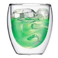 450ML耐热双层玻璃杯 礼品杯 创意茶具饮料杯 水杯 杯子