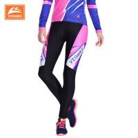 女款自行山地车骑行服长裤 透气排汗女士单车骑行服