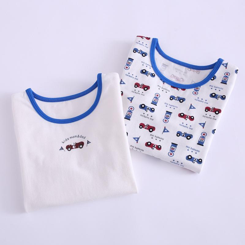 中大童纯棉保暖上衣宝宝内衣男童秋装衣服儿童秋衣薄款