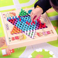 �w行棋�和�木制多功能游�蛭遄悠逄�棋象棋斗�F棋桌面益智玩具