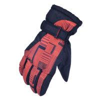 滑雪手套登山水加厚保暖骑行防滑雪花男女士户外手套