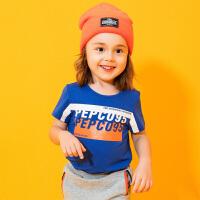 【2件5.5折价:32】小猪班纳童装男宝宝短袖t恤2020夏季新款男小童圆领上衣儿童体恤