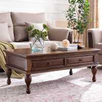 美式乡村实木茶几复古储物柜客厅小茶几小桌子现代简约小户型家具