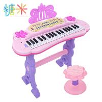 糖米儿童电子琴女孩初学者入门可弹奏音乐玩具宝宝多功能小钢琴3-6岁