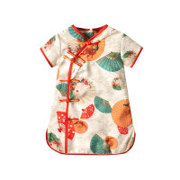 女童旗袍夏季中国风薄款女宝宝连衣裙汉服儿童唐装