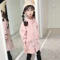 女童外套春秋风衣韩版7-8岁女孩秋装9长款上衣10-12潮衣