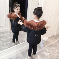 女童棉衣秋冬棉袄中大童女孩短款面包服外套儿童