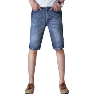 JEEP SPIRIT吉普男装牛仔裤男士时尚短裤男夏装新品青年休闲弹力牛仔五分裤