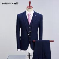 2019年新款西服套装韩版修身西服套装男西裤马甲三件套qt2005