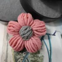 胸针女学生可爱韩版植物花卉毛线编制花朵胸花别针毛衣外套配饰