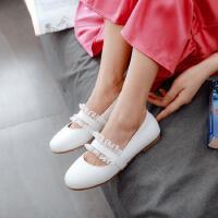韩版中大童10-12-15岁小女孩公主单鞋女童皮鞋豆豆鞋秋季童鞋