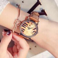 韩版复古表皮带手表女 新款潮流女表时装学生表 时尚腕表可爱小清新手表