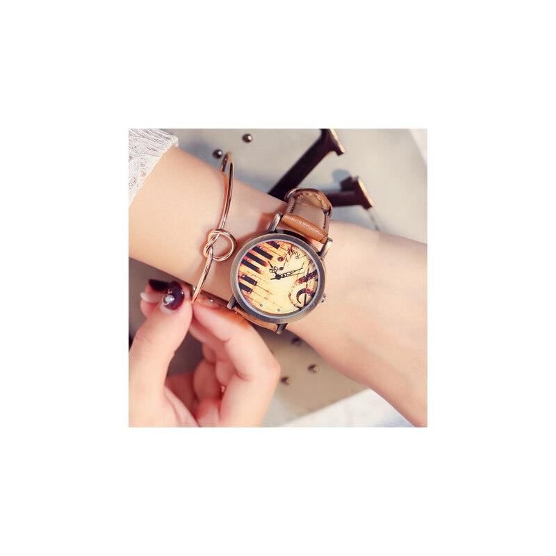 韩版复古表皮带手表女 新款潮流女表时装学生表 时尚腕表可爱小清新手表 品质保证 售后无忧