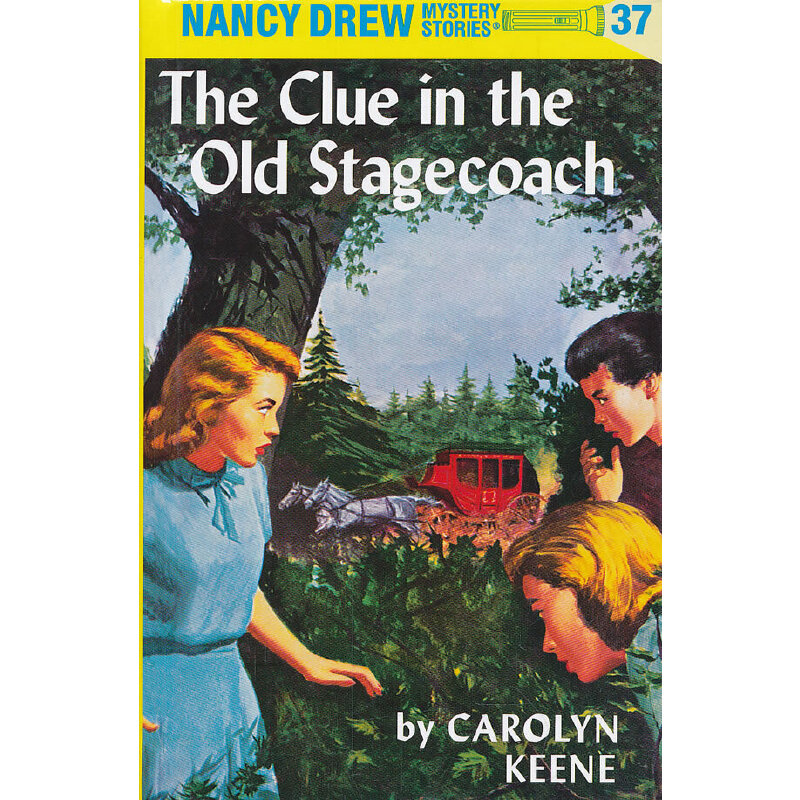 Nancy Drew #37 The Clue in the Old Stagecoach 南茜·朱尔:老马车内的线索 ISBN9780448095370