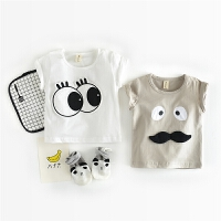 宝宝夏装半袖T恤1一3岁潮婴儿夏季衣服背心婴幼童无袖棉上衣