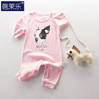 婴儿连体衣服宝宝新生儿哈衣03个月春款外出服6睡衣潮服8