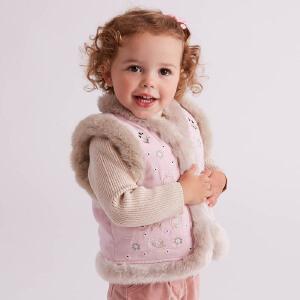 davebella戴维贝拉冬季背心女童加厚保暖马甲 背心DB5621