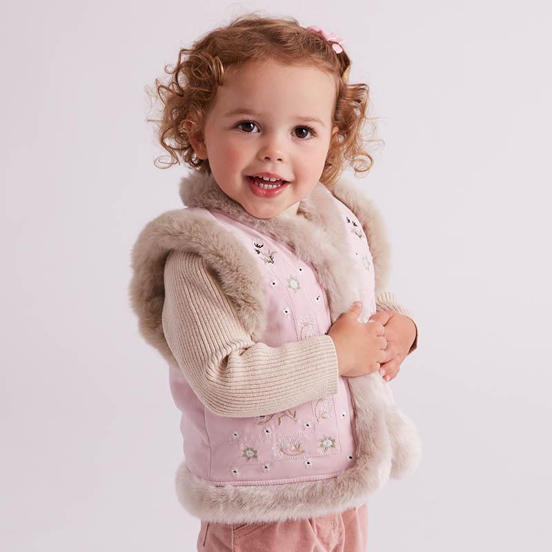 davebella戴维贝拉冬季背心女童加厚保暖马甲 背心DB5621戴维贝拉 每周二上新  0-6岁品质童装