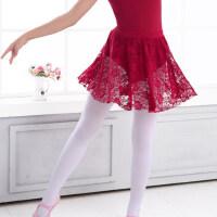 儿童舞蹈服装女童芭蕾舞练功短裙松紧蕾丝半身裙
