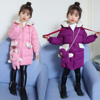 女童棉衣韩版中长款儿童装棉袄小女孩冬季外套潮