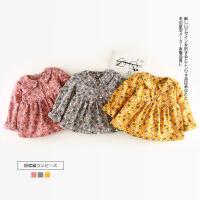 韩版女宝宝冬装婴儿加绒连衣裙子婴幼儿加厚衣服女孩女童冬季洋气