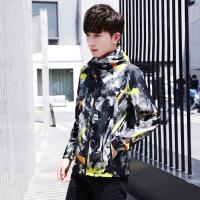 夏季防晒外套男新款韩版帅气男士薄迷彩衣服运动皮肤衣嘻哈防晒衣