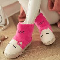 儿童棉拖鞋室内厚底防滑加绒母女小孩亲子棉鞋居家用