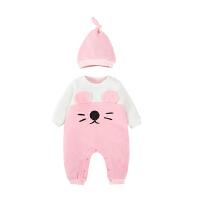 婴儿连体衣服宝宝装新生儿衣服冬季1岁0个月长袖满月连体衣