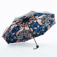 COHS零透光黑胶晴雨伞防紫外线防晒UPF50+太阳伞晴雨两用樱花系列CS602 (樱花)