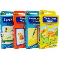 School Zone Flash Cards Words儿童早教英文单词词汇卡片字卡闪卡 4盒