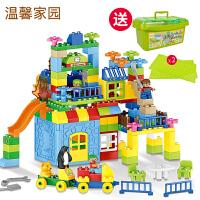 伊伯臣城堡积木玩具6周岁大颗粒拼装益智儿童玩具7-8-10男孩legao