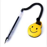 得力6793 单支装中性笔 微笑脸 台笔 电话签字笔 0.5mm 柜台桌笔 水笔