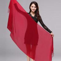 羊毛围巾女士空调披肩披风保暖百搭简约加长韩版围巾